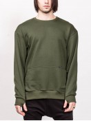 SWEATSHIRT WITH ZIPPER GREEN
