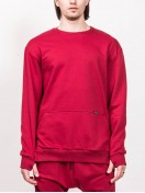 SWEATSHIRT WITH ZIPPER  RED