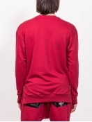 SWEATSHIRT RED WITH ZIPPER